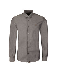 Pretty Green Mens Black L/S Sterling Oxford Shirt