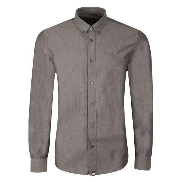 Pretty Green Mens Black L/S Sterling Oxford Shirt main image