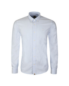 Pretty Green Mens Blue L/S Sterling Oxford Shirt