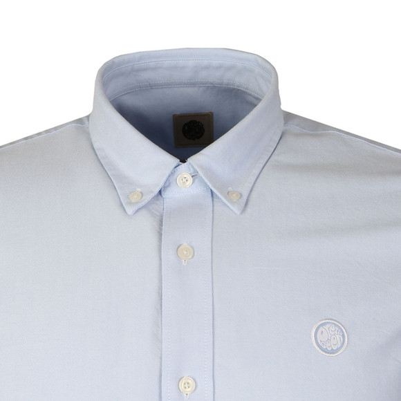 Pretty Green Mens Blue L/S Sterling Oxford Shirt main image