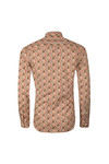 Pretty Green Mens Beige L/S Floral Manor Shirt