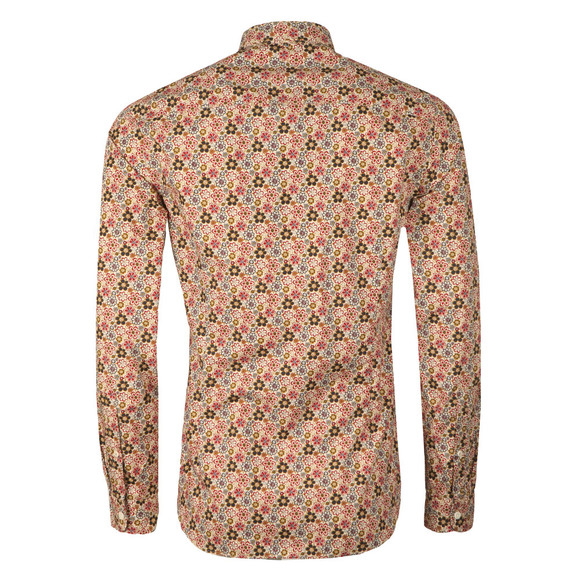 Pretty Green Mens Beige L/S Floral Manor Shirt main image