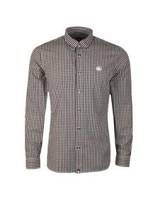 Pretty Green Mens Black L/S Francis Gingham Shirt