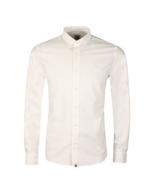 Pretty Green Mens White L/S Sterling Oxford Shirt