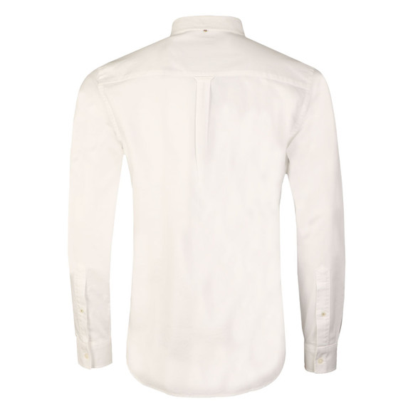 Pretty Green Mens White L/S Sterling Oxford Shirt main image