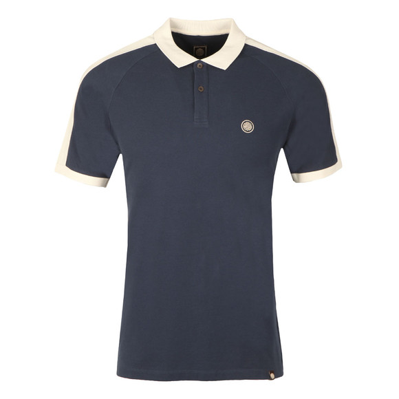 Pretty Green Mens Blue Contrast Panel Polo main image