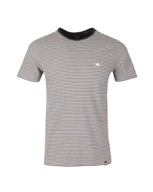 Pretty Green Mens Blue Striped T-Shirt