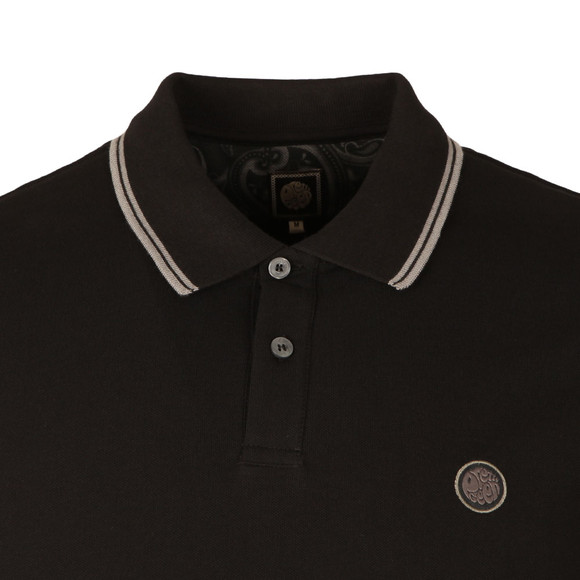 Pretty Green Mens Black L/S Barton Tipped Polo main image