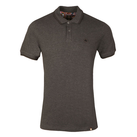 Pretty Green Mens Grey S/S Barton Tipped Polo main image