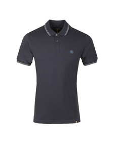 Pretty Green Mens Blue Tipped Pique Polo