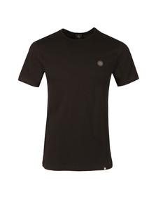 Pretty Green Mens Black Cotton T-Shirt