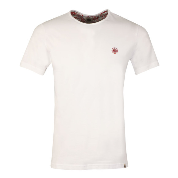 Pretty Green Mens White Cotton T-Shirt main image