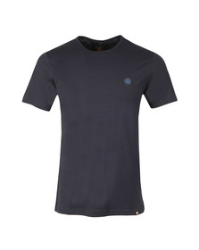 Pretty Green Mens Blue Cotton T-Shirt
