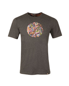 Pretty Green Mens Grey S/S Thornley Paisey Tee