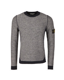 Stone Island Mens Blue Knitted Wool Crew Neck Jumper