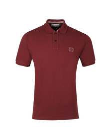 Stone Island Mens Red Tipped Regular Fit Polo Shirt