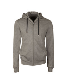 Paul & Shark Mens Grey Full Zip Fleece Hoody