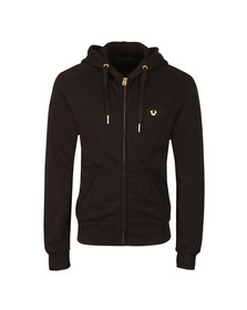 True Religion Mens Black Metal Horseshoe Hoody