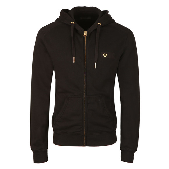 True Religion Mens Black Metal Horseshoe Hoody main image