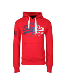 Superdry Mens Red Vintage Logo 1st Hood