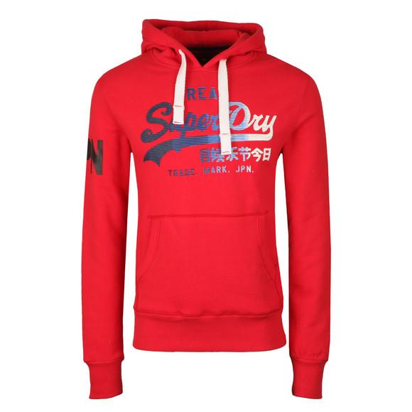 Superdry Mens Red Vintage Logo 1st Hood main image