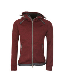 Superdry Mens Red Storm Double Zip Hood