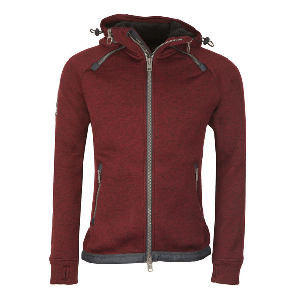 Superdry Mens Red Storm Double Zip Hood main image