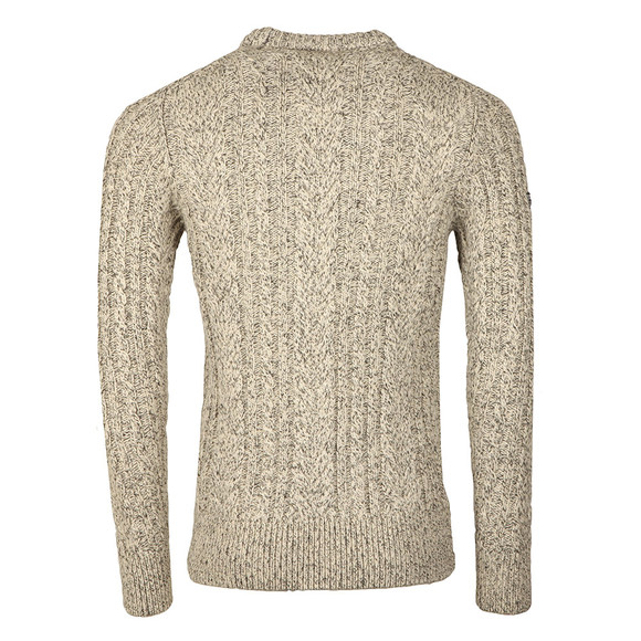 Superdry Mens Beige Jacob Heritage Crew Jumper main image