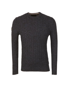 Superdry Mens Blue Harlo Cable Crew Jumper