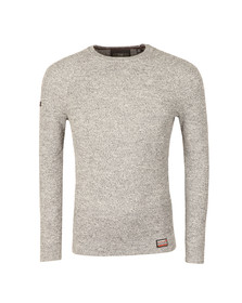 Superdry Mens Grey University Liner Crew Jumper