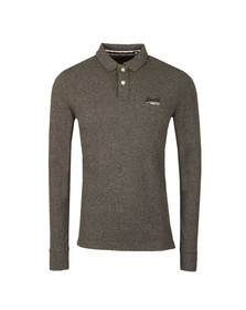 Superdry Mens Grey Classic LS Pique Polo