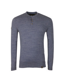 Superdry Mens Blue Orange Label Grandad Jumper