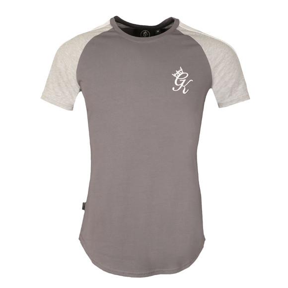 Gym king Mens Grey Retro Striped Tee main image