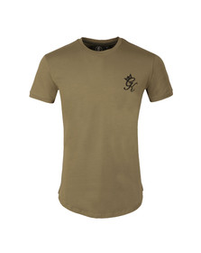 Gym king Mens Green Core Long Line Tee