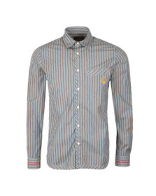 Vivienne Westwood Anglomania Mens Blue Classic Stripe Shirt