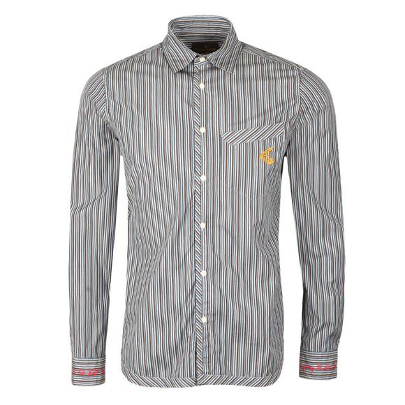 Vivienne Westwood Anglomania Mens Blue Classic Stripe Shirt