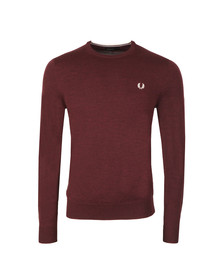 Fred Perry Mens Purple Crew Neck Jumper