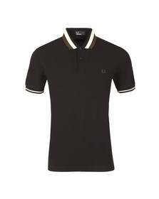 Fred Perry Mens Blue S/S Bold Tipped Polo