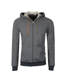 Paul Smith Mens Blue Loop Back Zip Hood