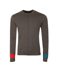 PS Paul Smith Mens Grey Crew Neck Jumper