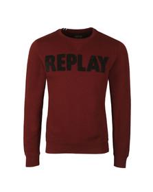 Replay Mens Red Logo Sweat