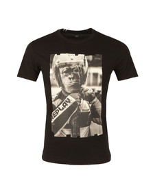 Replay Mens Black S/S Monkey Helmet Tee