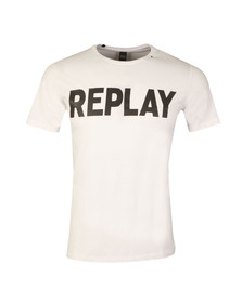 Replay Mens White S/S Logo Tee