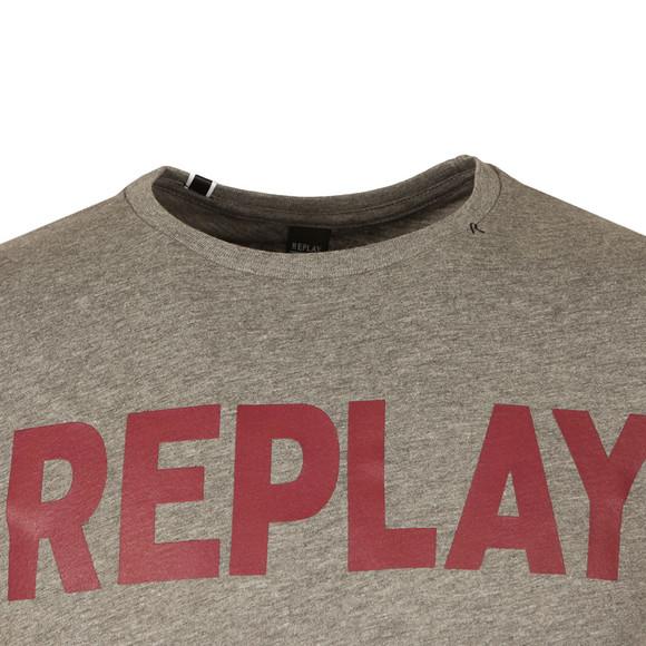 Replay Mens Grey S/S Logo Tee main image