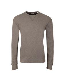 Edwin Mens Grey Waffle Sweatshirt