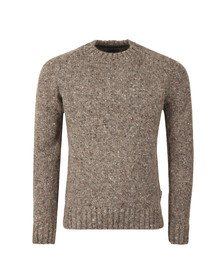 Barbour Heritage Mens Grey Netherby Crew Neck Jumper