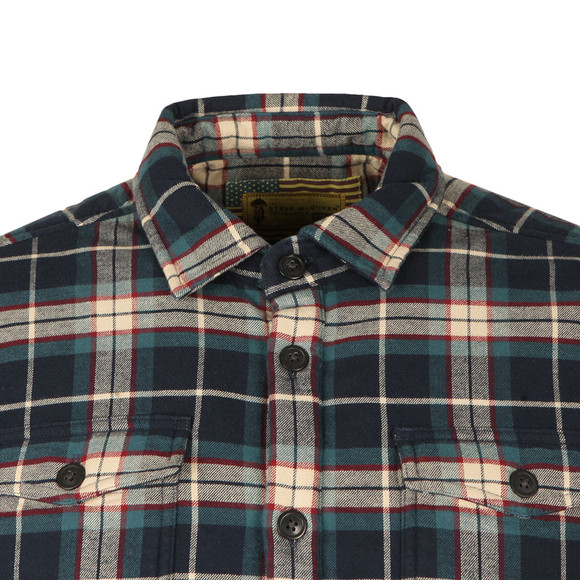 Barbour Steve McQueen Mens Blue Claude Overshirt main image