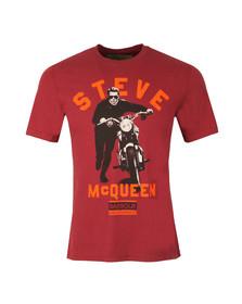 Barbour Steve McQueen Mens Red Varsity Steve Tee
