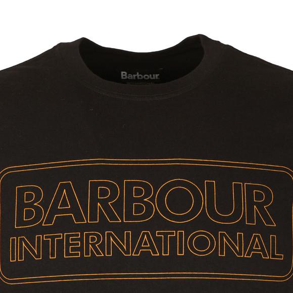 Barbour International Mens Black S/S Line Logo Tee main image