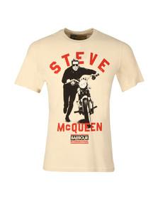 Barbour Steve McQueen Mens Off-white Varsity Steve Tee